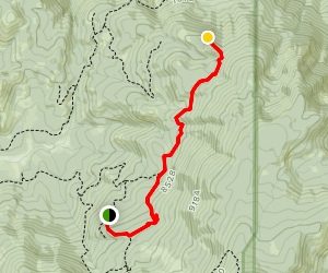 Kings Canyon Lookout Point Map