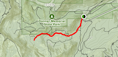 Upper Coldstream Canyon Map