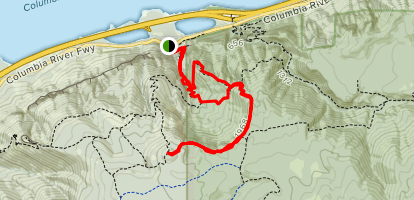 Wahkena Trail Loop to Devil's Rest (CLOSED) Map