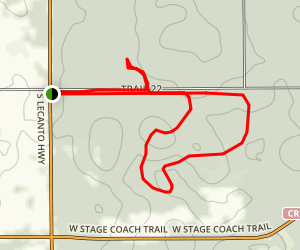 Dames Caves and Lizzie Heart Sink Loop Trail Map