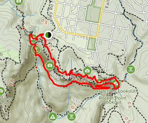 Valley of the Waters to Wentworth Falls via Wentworth Pass Map