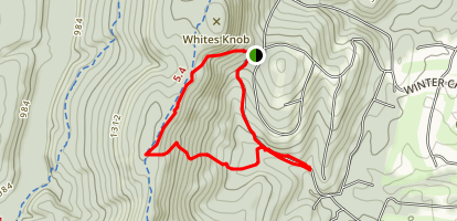 White Knob Trail to Lodge Rd to 3rd Hill Map
