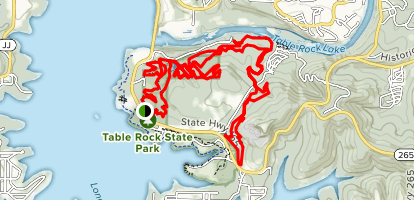 White River Trail System: Red, Blue, Orange and Green Loops Map