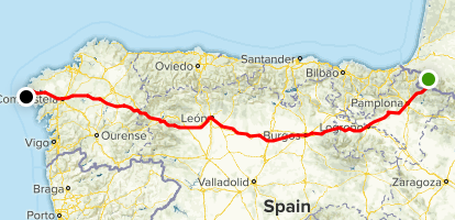 Camino de Santiago Frances Map