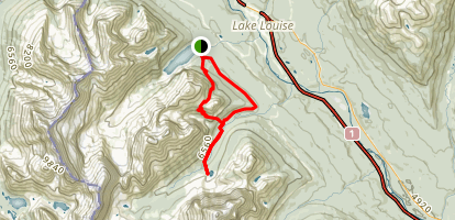 Lake Louise to Lake Annette Map
