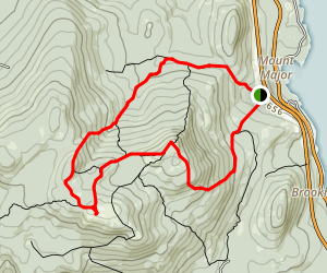 Mount Major and Mount Straightback Loop Map