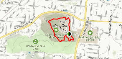 Miami University Middletown Trail Loop Map