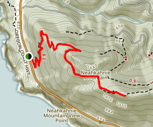 Neahkahnie Mountain via Oregon Coast Trail Map