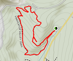 Vindicator Valley Trail Map