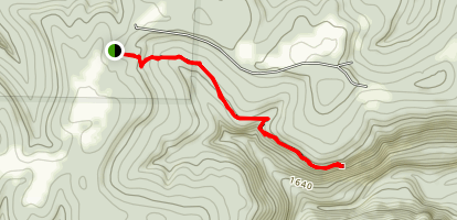 Whitaker Point Trail (Hawksbill Crag) Map