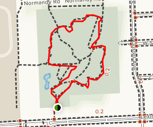Tenhave Woods Nature Trail Map