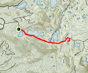 Feely Lake and Round Lake  Map