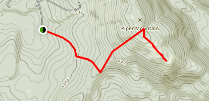 South Pipper Mountain Map