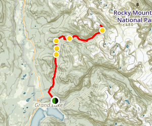Tonahutu Creek and Granite Falls Trail Map