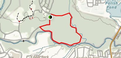 Bull Run and Bluebell Trail Loop Map
