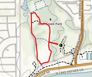 Bluff Creek Fire Trail Map