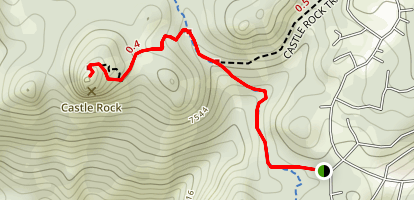 Castle Rock via Tahoe Rim Trail (The Bench) Map