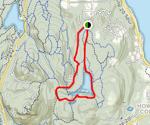 Whistle Lake Trail Map