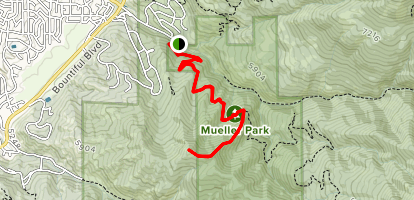 Cave Peak via Elephant Rock (Big Rock) Trail Map
