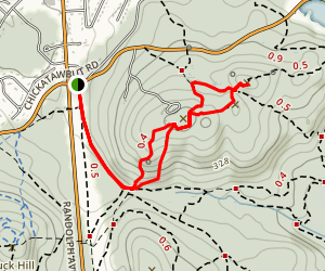 Nahanton Hill Map