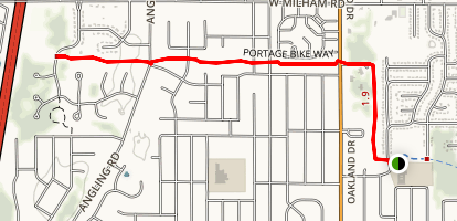 Portage Bike Way Map