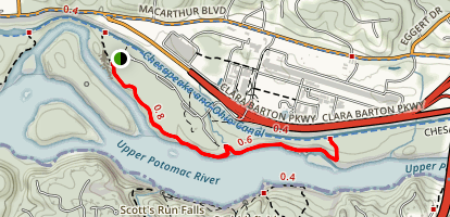 Billy Goat Trail: Section C Map