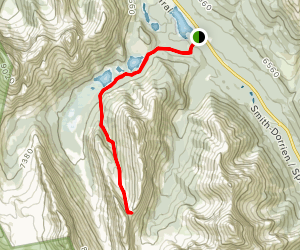 Burstall Pass Trail to French and Robertson Glacier Map