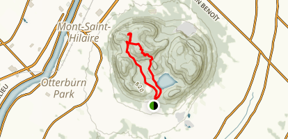Mont St-Hilaire via Sentier Rocky and Sentier Du Dieppe Map