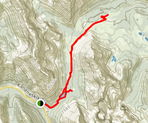 Elbow Lake Trail to Sheep River Trail Map