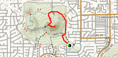 Lookout Mountain via Trail 308 Map