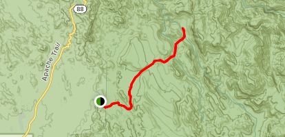 Second Water To Boulder Canyon Camp Map
