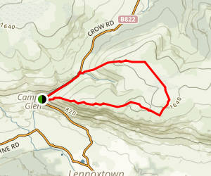Crichton's Cairn and Lecket Hill Loop Map