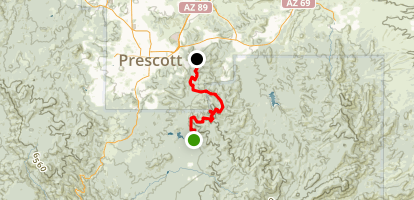 Prescott Circle Trail: Segment 06 Map