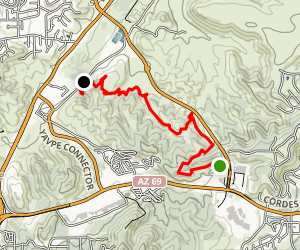 Prescott Circle Trail: Segment 08 Map