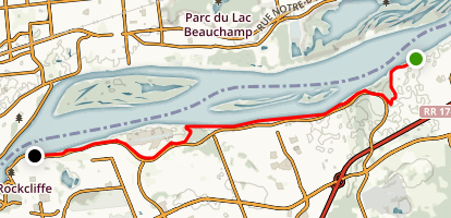 Ottawa River Pathway Eastern Section Map