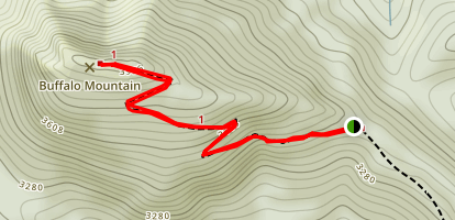 Buffalo Mountain Summit Map
