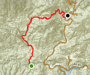 Coldbrook Campground to West Fork Via Bear Canyon Trail Map