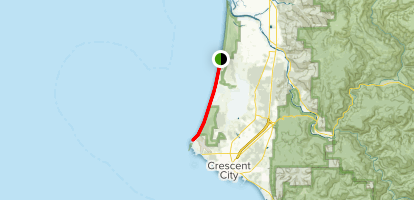 CA Coastal Trail: Kellog Road to Point Saint George Map