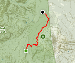 Muddy Meadows Trail to Rd # 23 Map
