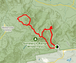 Sandwich Traverse: Whiteface, Passaconway, Sleepers, & Tripyramid Map