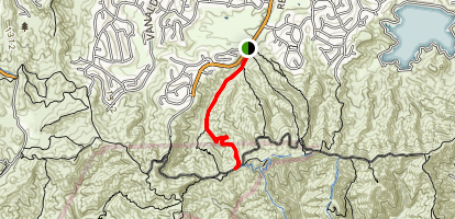 Caballero Canyon to Mulholland Drive Map