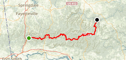 Ozark Highlands Trail Map