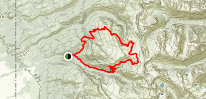 South Leigh Creek, Granite Basin, Green Lakes Loop Map