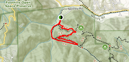 Hostel Trail, Pipeline Trail and Creek Trail Loop Map