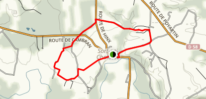 Circuit du Luy Map