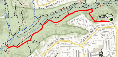 San Diego Sea to Sea Trail via Camino Ruiz Park Map