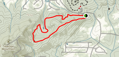 Sawnee Mountain West: Short Loop Map