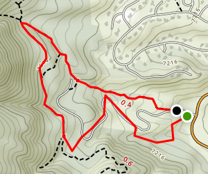 Blodgett Peak Open Space Connector Loop Map