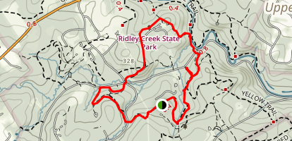 Ridley Creek Blue and White Trail loop Map