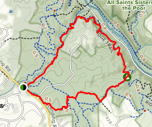 Cascade Falls, Valley View, and Chuck Norris Loop Map